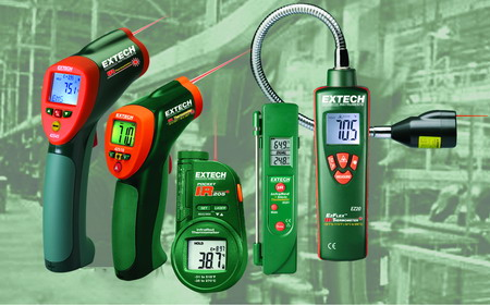 Extech's high temperature IR thermometers are ideal for applications where temperature range is a critical factor